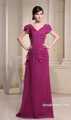 http://www.ikmdresses.com/Summer-Floor-Length-Fuchsia-Chiffon-V-neck-Bridesmaid-Dress-p19796