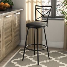 7d122cdb5fbb 3-Piece Avery Adjustable Height Barstool, Multiple Colors, Silver ...