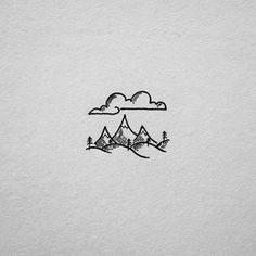 Keep it simple with clouds, mountains and freedom