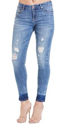 5124aeb1fb8fc These Dear John Gisele Roke Ankle Skinny Jeans have a 27.5