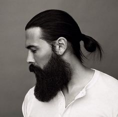 character inspiration: who wouldn't love to see danse with a man bun and a fuller beard? (i know i would.)