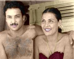 Rushdy abaza & tahya karyoka during there marriage