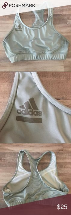 Adidas Sport Bra Gray Sport Bra by Adidas. Clean and very comfortable no stains or tears. Size is medium. Bundle all and save or make me offer!!! adidas Intimates & Sleepwear Bras