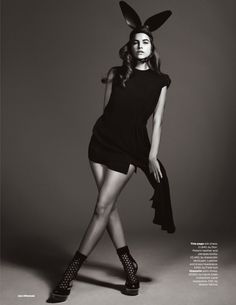 visual optimism; fashion editorials, shows, campaigns & more!: dark angel: barbara palvin by jem mitchell for uk elle march 2013