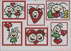 Swetlanquins of Joy: febrero 2010 Baby Cross Stitch Patterns, Cross Stitch Heart, Cute Cross Stitch, Pixel Crochet Blanket, Crochet Chart, Stitch Doll, Graph Paper Art, Hama Beads, Cross Stitching