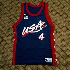 8d6e6b59c235 Vintage Charles Barkley Olympic jersey    Nylon    Chest (Pit to Pit). Depop