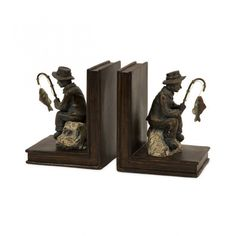 IMAX Fisherman Bookend (Set of Two) - 53008-2