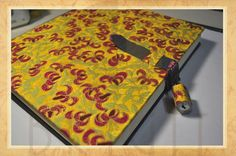 Handmade book / bookbinding - This is the Work Book, with a pad lock to avoid some curious people...- Handbound book - Handbound Journal