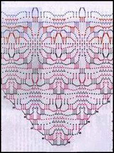 Tricot Dos Agujas Graficos Crochet Ganchillo Chal Tejidos Al