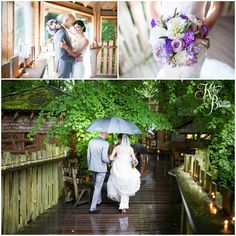 Alnwick Treehouse rainy wedding day