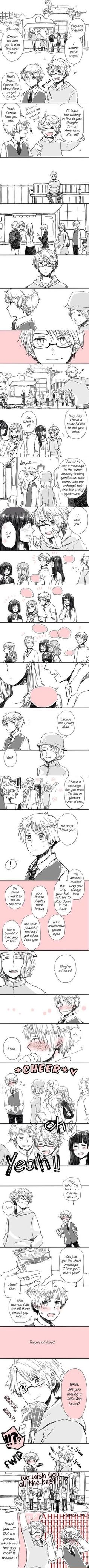 Hetalia ~ USUK America (Alfred) x England (Arthur) I just can't with the cuteness right now >3< ♥ ♥ ♥