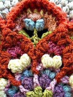 Ravelry: The Amanzi Block/Throw pattern by Jen Tyler Crochet Mandala Pattern, Crochet Square Patterns, Crochet Quilt, Crochet Blocks, Freeform Crochet, Crochet Squares, Crochet Blanket Patterns, Easy Crochet, Crochet Stitches