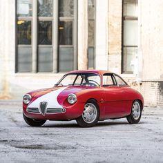 """meandmybentley: """"The 1961 Alfa Romeo Giulietta SZ, also know as the Coda Tonda, or Round Tail, inherited its name because of its curvaceous rear end. As just one of the 210 Giulietta SZ models..."""