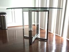 Shop Silverado Glass And Chrome Dining Table No Lone Rangers Here - Cb2 round glass table
