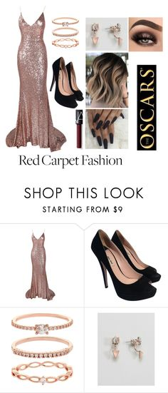 """""""Red carpet 👠"""" by joellefanoy ❤ liked on Polyvore featuring Miu Miu, Accessorize, ASOS and NARS Cosmetics"""