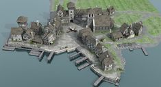 Discover recipes, home ideas, style inspiration and other ideas to try. Minecraft Medieval Village, Viking Village, Minecraft Castle, Medieval Houses, Medieval Town, Minecraft Ideas, Fantasy City Map, Fantasy World Map, Fantasy Castle