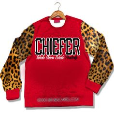 This Crewneck is Highlighted with leopard print sleeves and cardinal Red . It use Kidd Chief's Chiefer motto of inhale chaos exhale Positivety  ATTENTION : PRE ORDER FOR THE PRODUCT IS LIMITED. AND WILL HAVE A TURNAROUND DATE OF DECEMBER 18TH. BUYER MUST UNDERSTAND ALL TERMS BEFORE PURCHASING.- ITEM WILL NOT BE SHIPPED SAME DAY OR NEXT DAY- ITEM WILL BE SHIPPED UPON ARRIVAL AMONG OTHER PRE ORDERS - BUYER MAY CANCEL PRE ORDER AT ANY TIME ( CONTACT US )