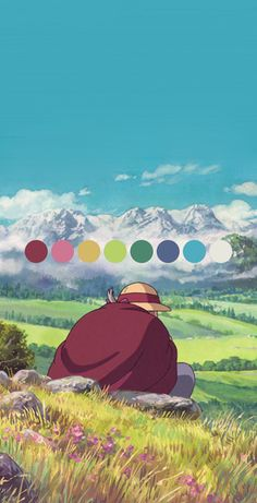 Palettes of Ghibli | ghiblipalette.tumblr.com