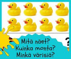 Matikka muodot varit Rubber Duck, Preschool, Language, Education, Toys, Activity Toys, Kid Garden, Clearance Toys, Languages