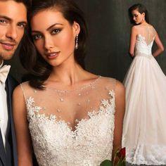 White Fashion Hot Lace Wedding Dress Bridal Gown Stocked Size2 4 6 8 10 12 14.