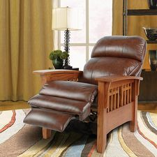 LayZBoy Recliner- El Dorado High Leg Recliner - Leather (great for a home office)