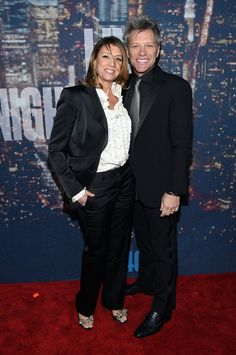 Pin for Later: Anyone Who's Anyone Was at the SNL 40th Anniversary Celebration Jon Bon Jovi and Dorothea Hurley