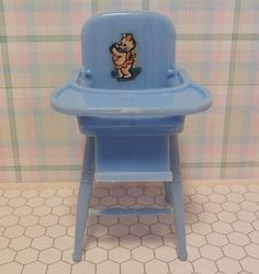 Renwal BABY HIGH CHAIR -EXCELLENT Vintage Dollhouse Furniture Ideal Marx Plasco  #Renwal