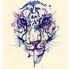 Awesome tiger painting by @dsorder