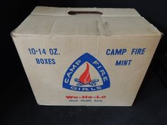 """Camp Fire Girls Mints Box """"Wo He Lo""""; I remember selling box after box of these."""