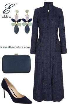 The Outfit of the day has a tweed formal look. Gown Suit, Classic Style, My Style, Formal Looks, Modest Outfits, Ball Dresses, Fashion Outfits, Womens Fashion, Winter Fashion
