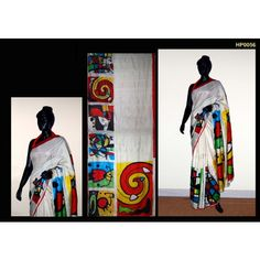Bankura (bishonpur) Silk Hand Painted Saree. MADE on ORDER. 4 WEEKS DELIVERY TIME pd0056
