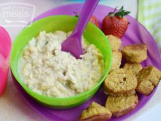 A monthly menu for making your own toddler friendly food for your 12-18 month old child.