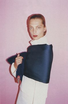 Daria Werbowy for the Celine Fall 2013 advertising campaign, photographed by Juergen Teller.