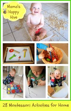 28 Montessori Activities for at Home -  www.mamashappyhive.com