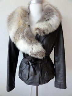 Nu in de  Catawiki veilingen  Couture leather style - leren jas jack -  ceintuur aea3e709b