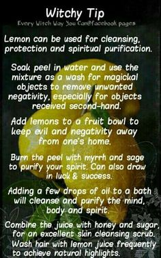 Witchy Tip lemon ✯ Visit lifespiritssocietyofmagick.ctopsom for love spells, wealth spells, healing spells, and LOA info. Magick Spells, Wicca Witchcraft, Healing Spells, Witch Herbs, Herbal Magic, Magic Herbs, Kitchen Witchery, Eclectic Witch, Witch Spell
