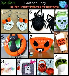 Spooky and fun. These are fast and easy too. Still, there is plenty of time to start to crochet these 10 free crochet patterns.