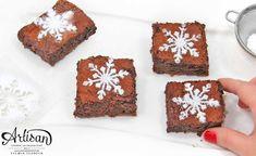 Schneeflocken-Schablone für mein Brownie - fertig in zwei Minuten!