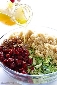 Brussels Sprouts, Cranberry, and Quinoa Salad | 24 Giant Salads That Will Make You Feel Amazing