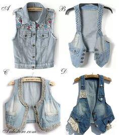 Them jean vests! Jean Vest, Denim, Jeans, Diaries, Jackets, Fashion, Amor, Dressing Rooms, Clothing