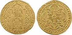 France AV Franc a pied ND 28.4mm/ 3.72g. Struck April 20th/ 1365  Charles V