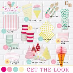 How to create an ice cream party   Featured on Emiko Blue