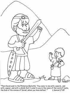 davidandgoliath coloring page for your kids httpcoloringpageplacecom