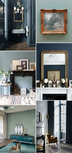 gray blue wall color inspiration. / sfgirlbybay