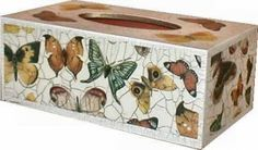 Decoupage Methodfor CRAQUELURE Finish - This is a two-part water-based application which reproduces an attractive cracked varnish look. Once the varnish is dry, the cracks can be enhanced by rubbing wax over the surface.