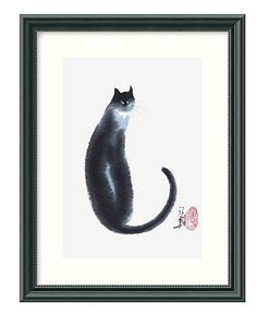 Amanti Art Wall Art, Chinese Cat II Framed Art Print by Cheng Yan - Wall Art - for the home - Macy's