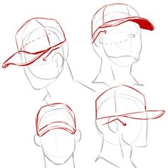 Drawing Reference|| Cap Angles, hats