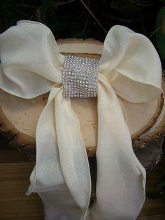 DIY  Diamond Mesh Chair Sash Bands.  This is a resource for bulk DIY / wedding decor items.