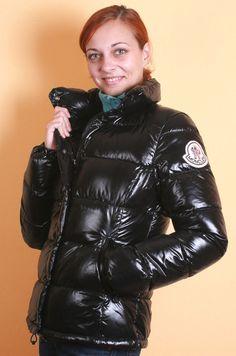 Puffy Jacket, Rain Wear, Black Faux Leather, Jacket Style, Moncler, Parka, Jackets For Women, Winter Jackets, Women's Fashion