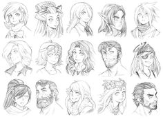 151123 - Headshot Commissions Promo Sketch Dump by Runshin